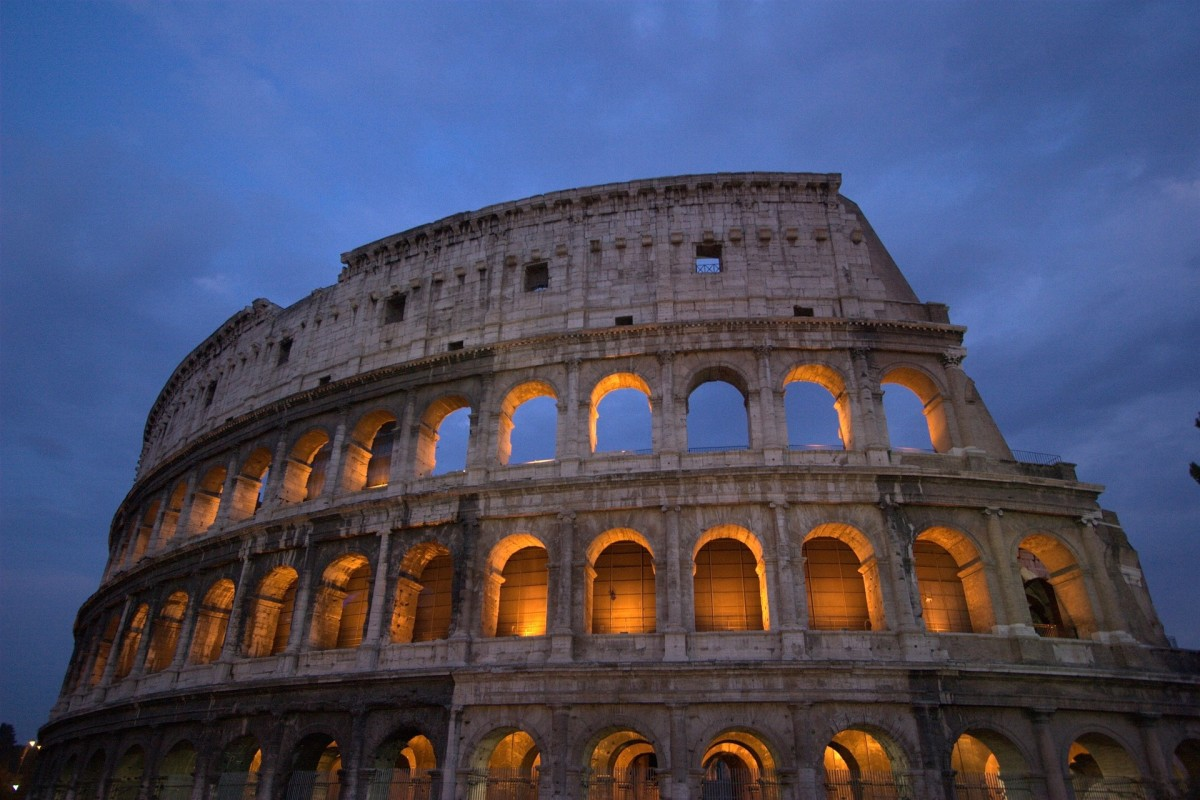 This is a photo of the Roman Colosseum one of the landmarks that is mentioned in the episode of Gadget's Roma.