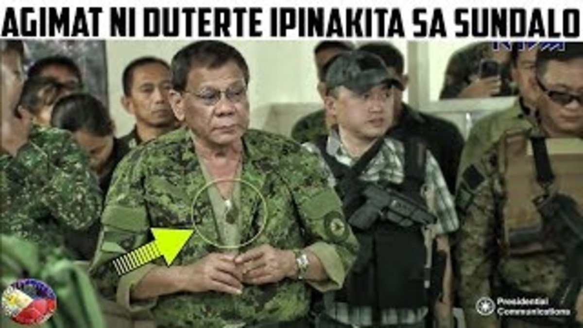 the current Philippine president Rodrigo Duterte allegedly carries an agimat as well