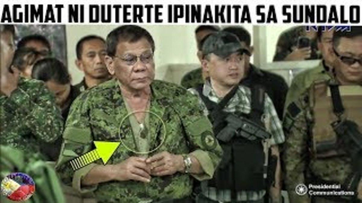 the current Philippine president Rodrigo Duterte allegedly carries an agimat as well