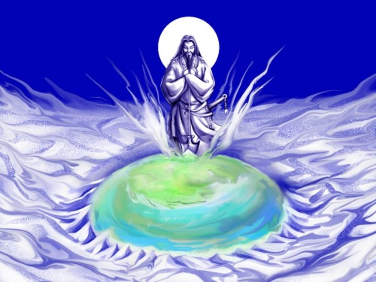 Kuninotokotachi - The primordial god of the Universe.
