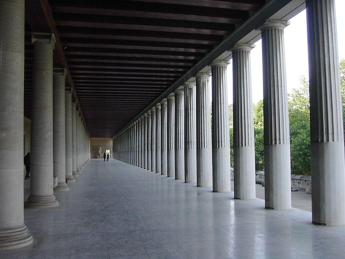 The restored Stoa of Attalos in Athens