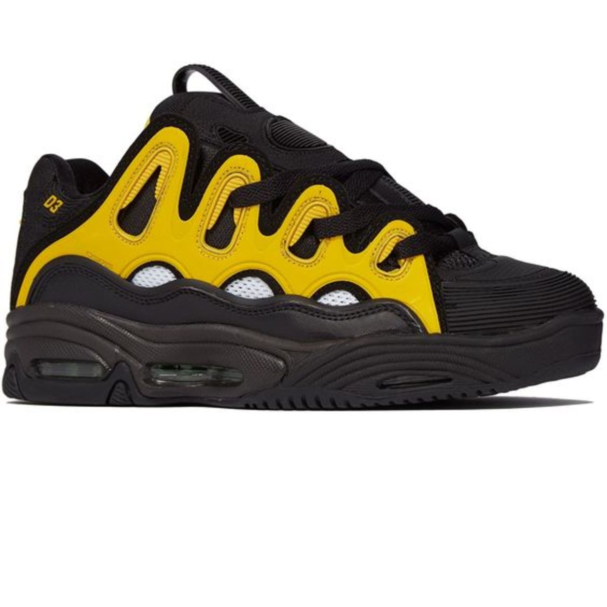 The infamous Osiris D3. Probably the ugliest skate shoe from the subculture. But ASAP Rocky made a shoe inspired by this, and 2019 is the year of the ugly sneaker. You might as well get these I guess.