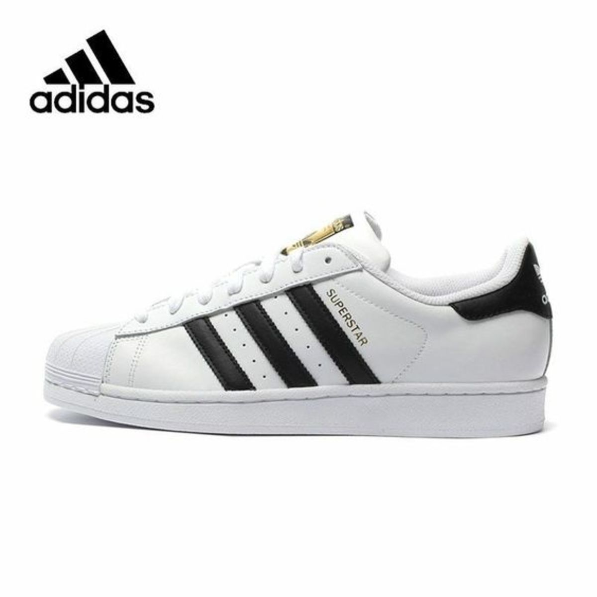 And you've probably seen these. With the rubber shell and all leather construction, no wonder people liked to skate these. The Adidas Superstars even got an Alexander Wang makeover, so maybe they're a little adept at skating.