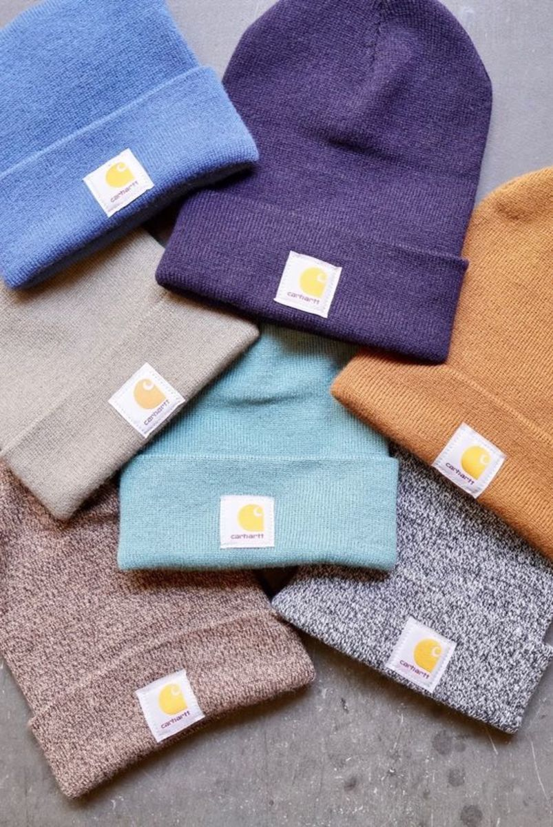 Carhartt beanies are good staples. They come in basically any color you want, and they look good too. Plus they're pretty comfortable and warm.