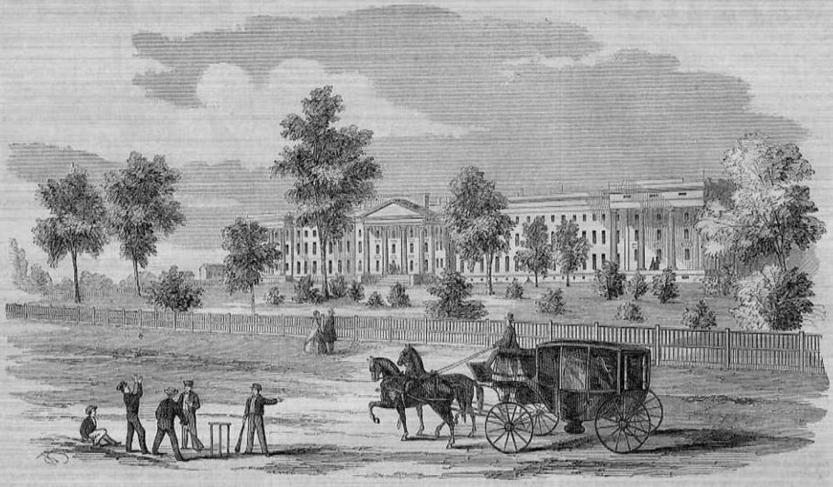 Lunatic Asylum, Columbus, Ohio, 1857, a wood drawing by Nathan Kelley