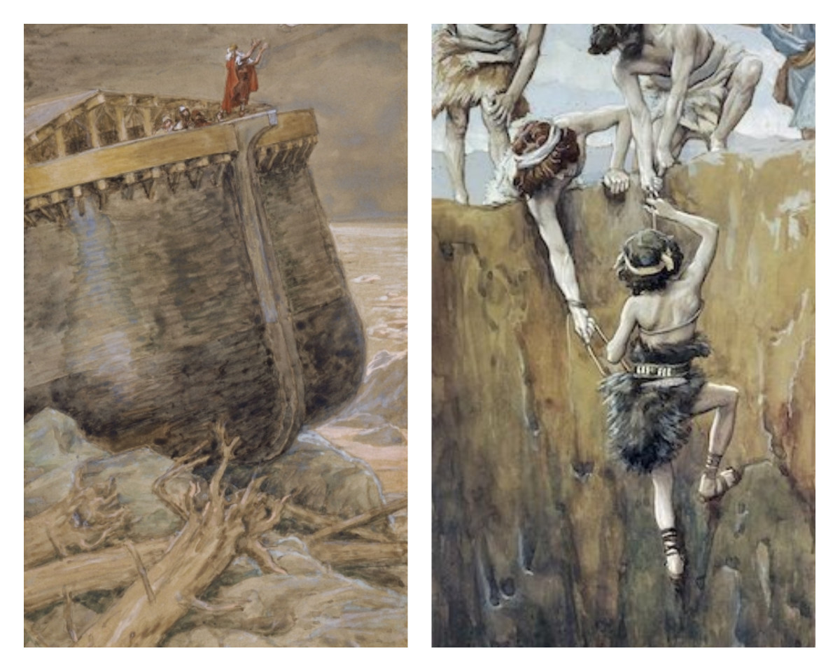 First image by James Tissot. The Second Image is by Phillip Medhurst