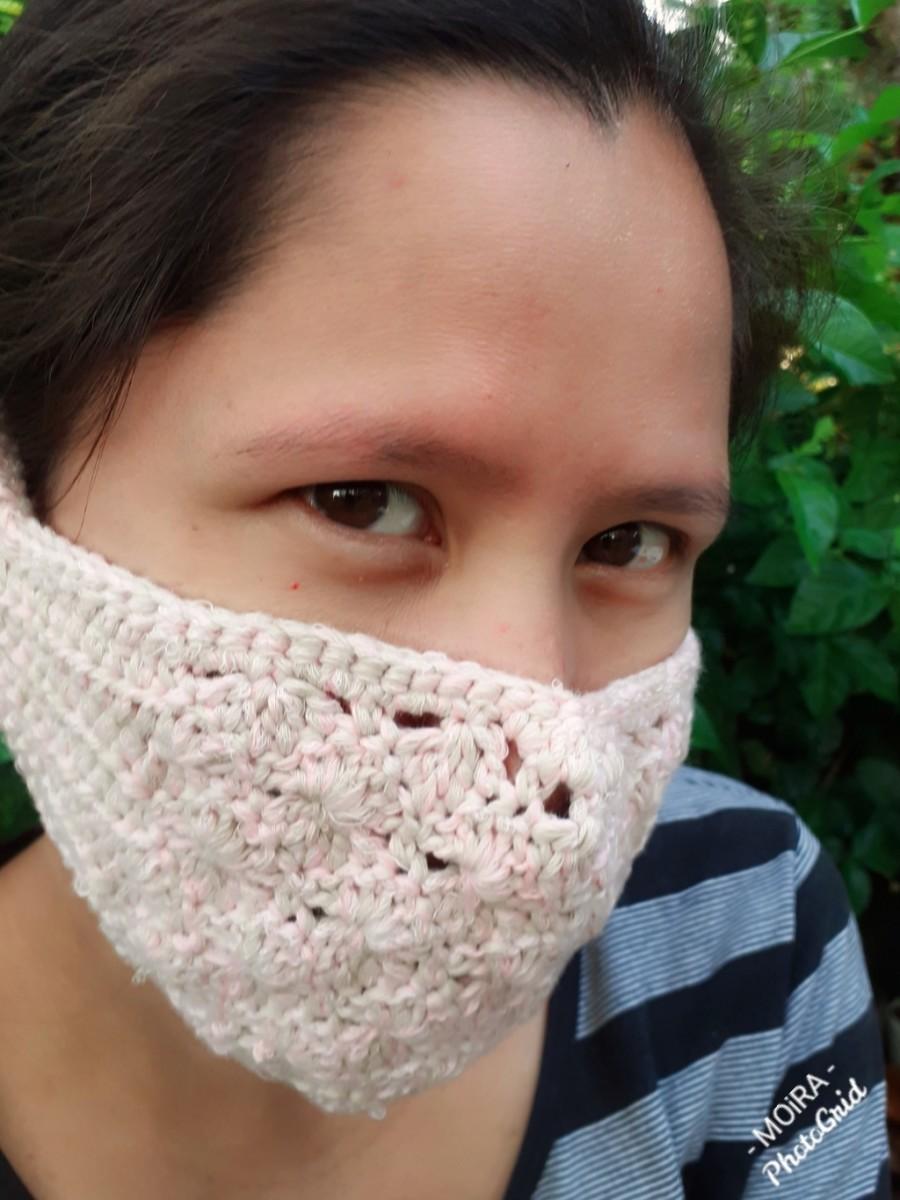 Crochet Starbust Face Mask