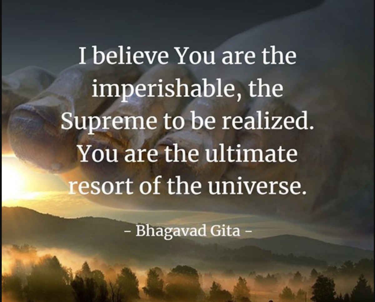 A quote from the Bhagavad Gita