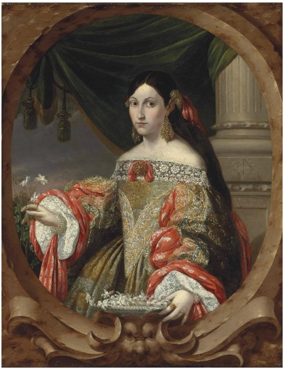Horizontal neckline circa 1682