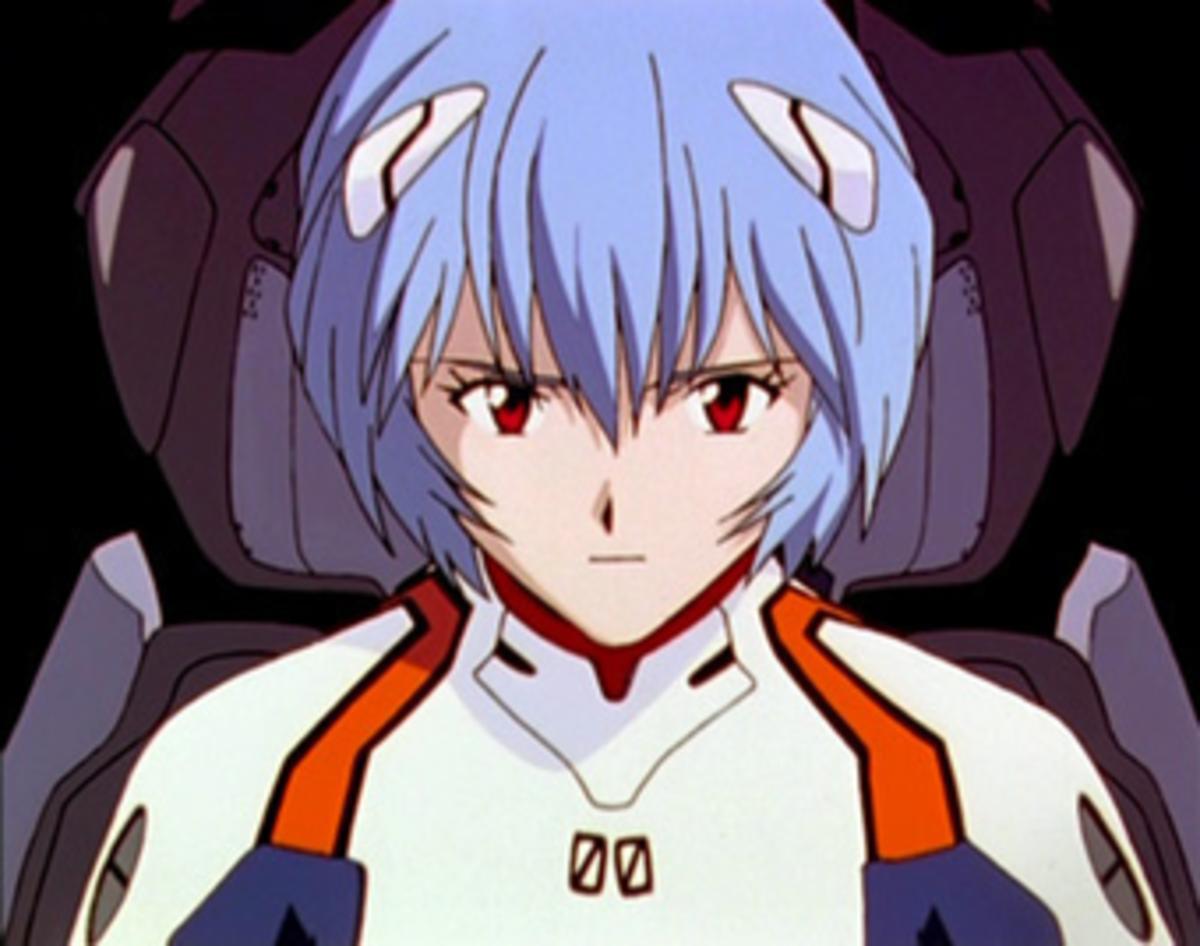 Rey Ayanami, the original mecha waifu.