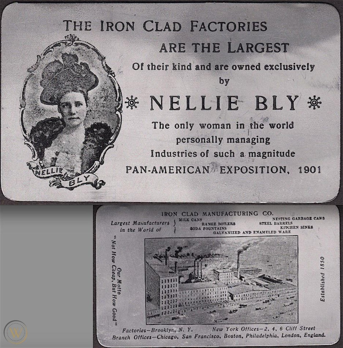 Nellie Bly Iron Clad Mfg Co