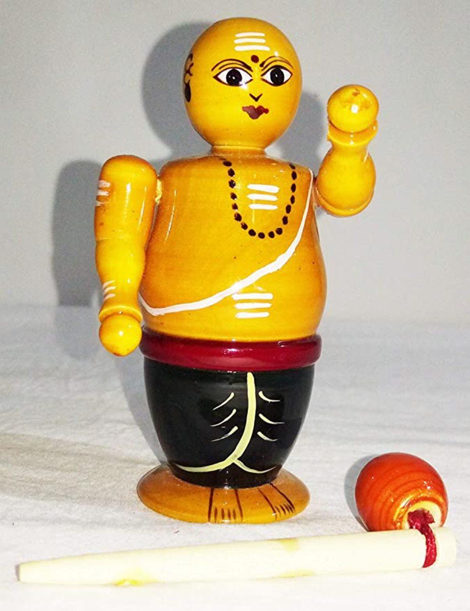 Brahmin wooden doll