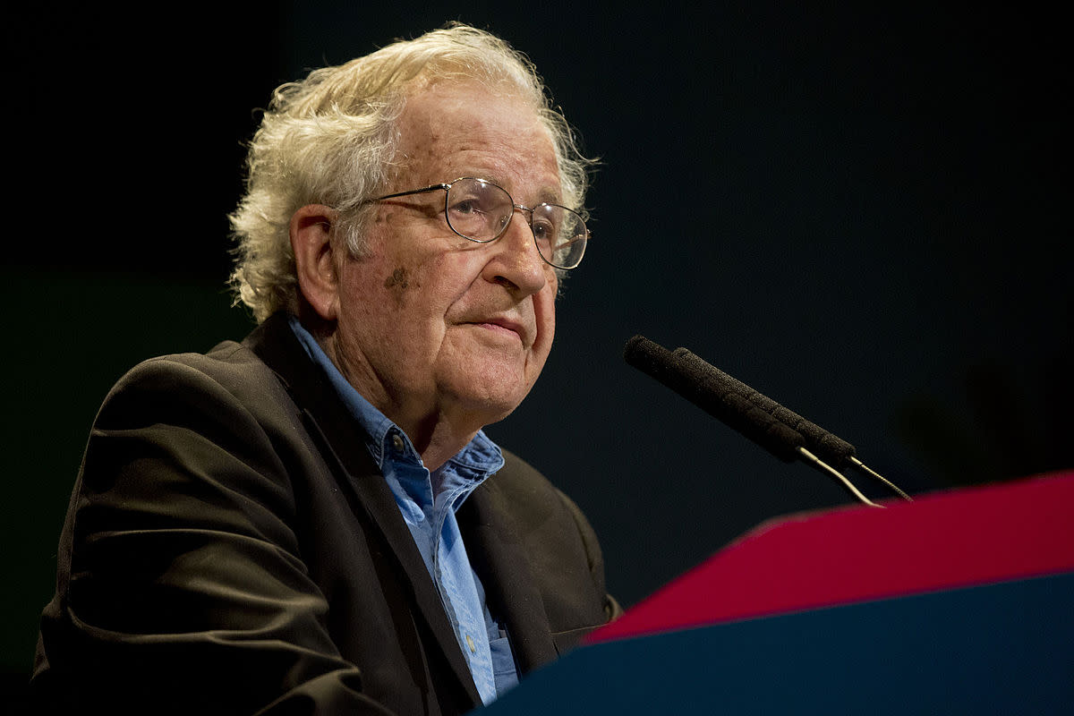 Professor Noam Chomsky, veteran of the American Left