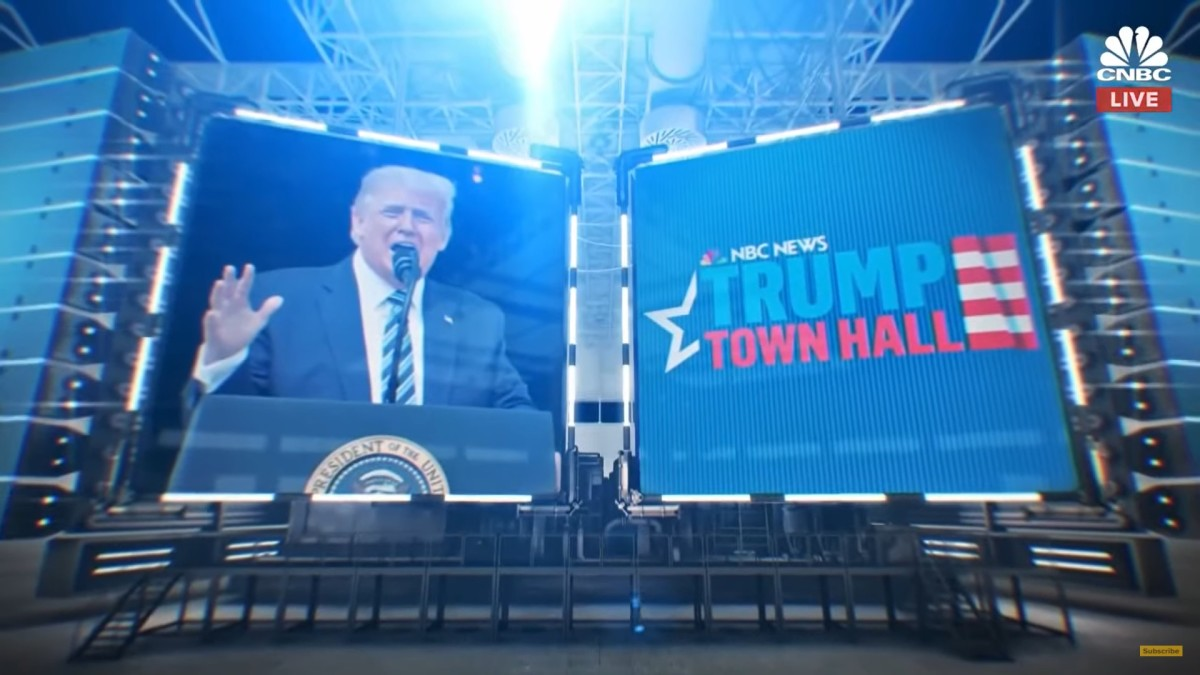President Donald Trump at Town Hall