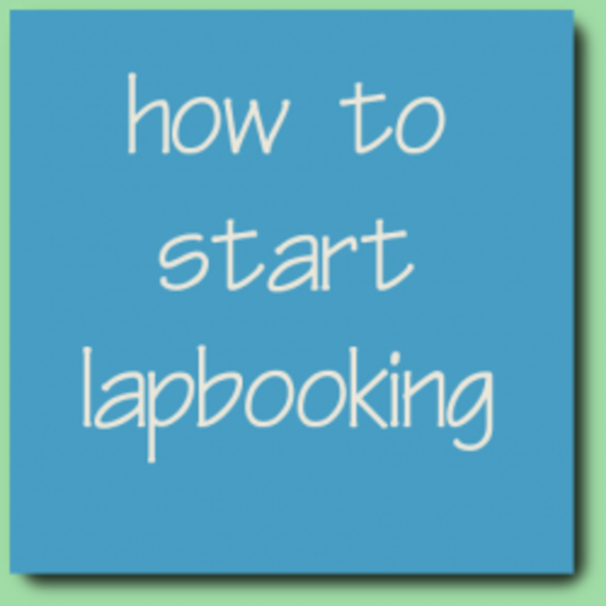 A Super Easy Way To Begin Lapbooking : The Simplest Lapbook Ever