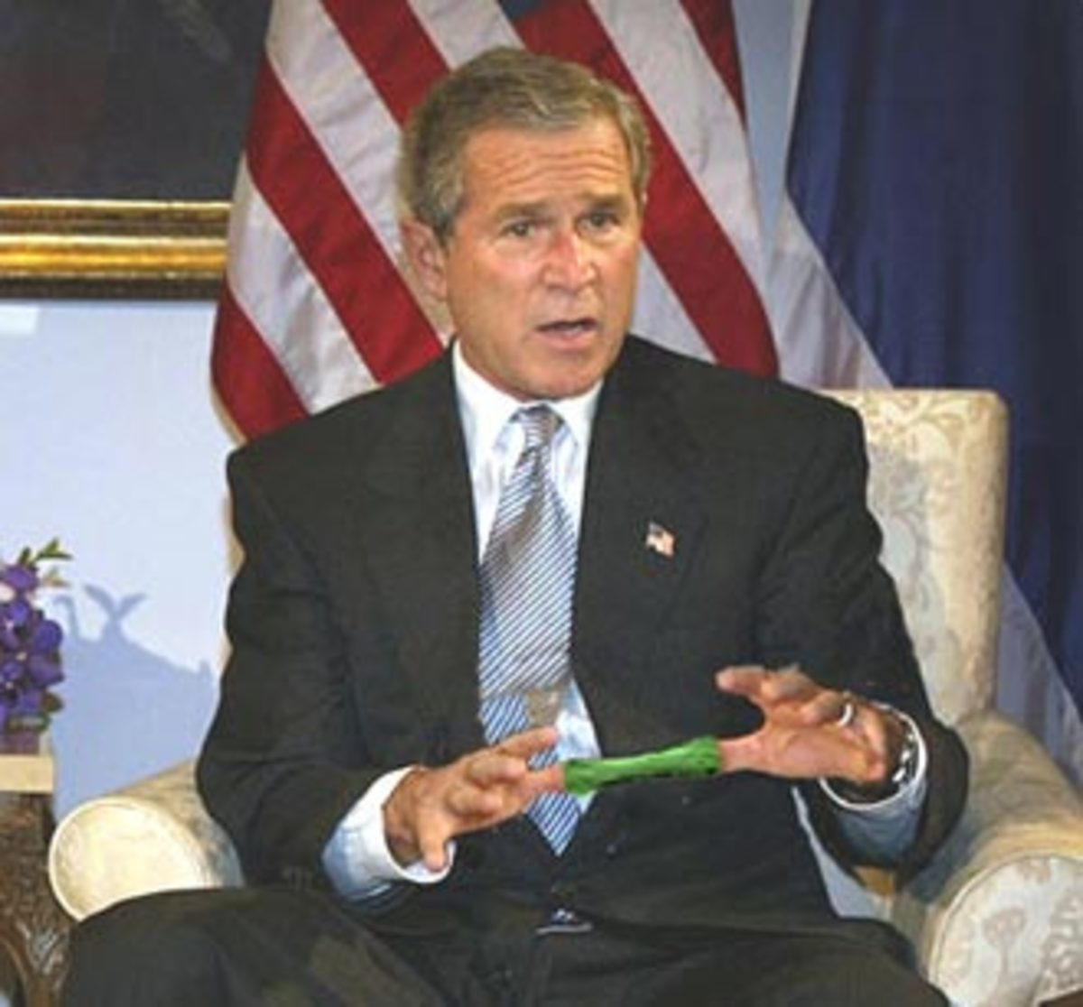 President Bush Gets Trapped