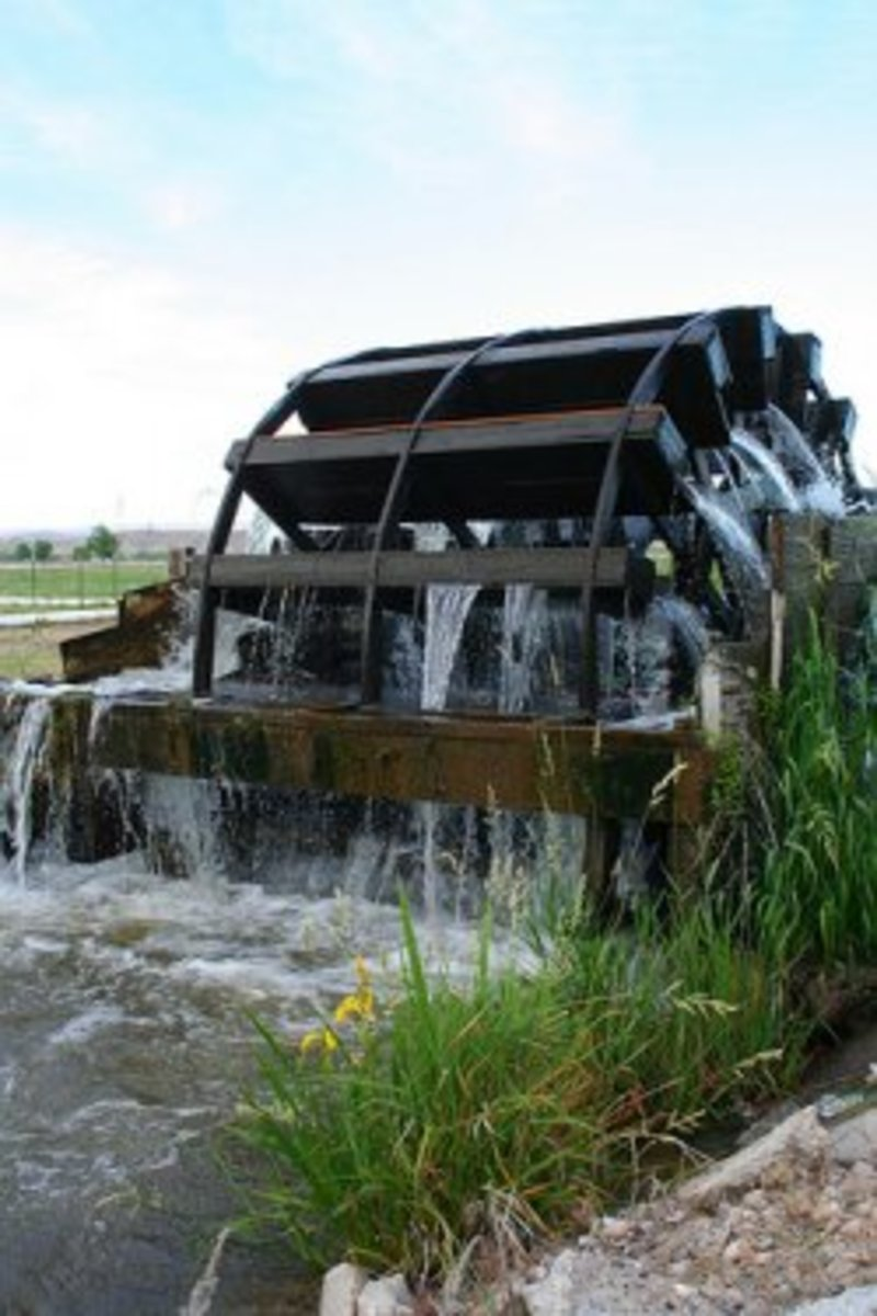 The Water Wheels in New Plymouth, Idaho