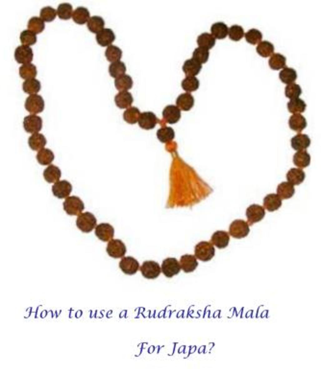 How to use a Rudraksha Mala for the purpose of chanting Mantras?