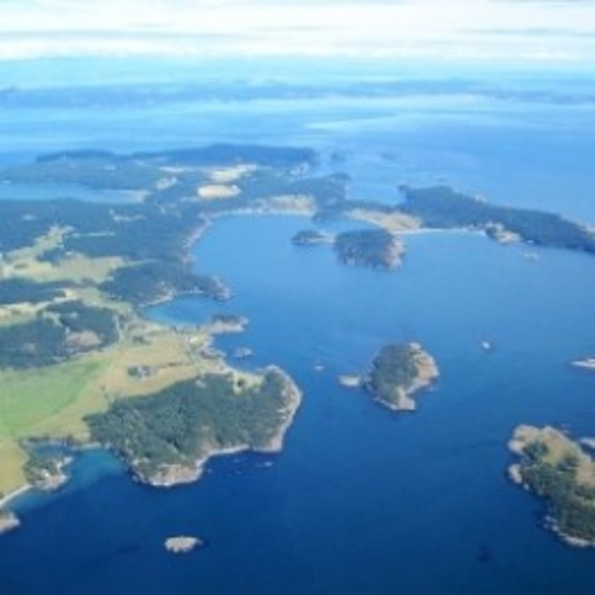 An Aerial View of San Juan Island