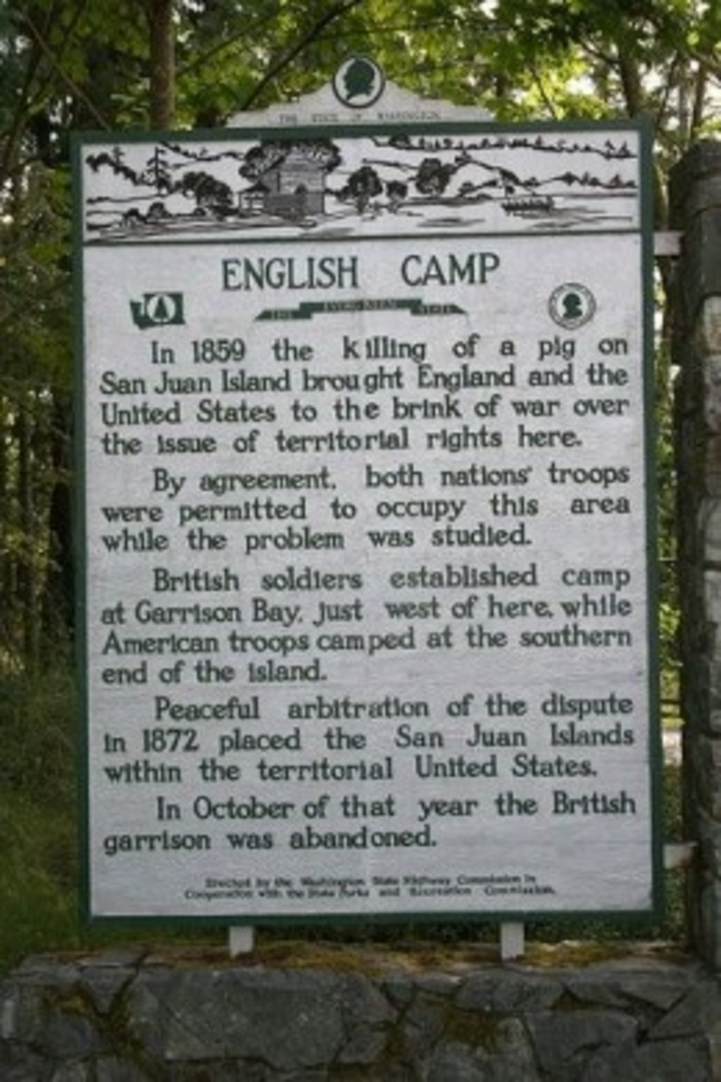 English Camp Sign on San Juan Island