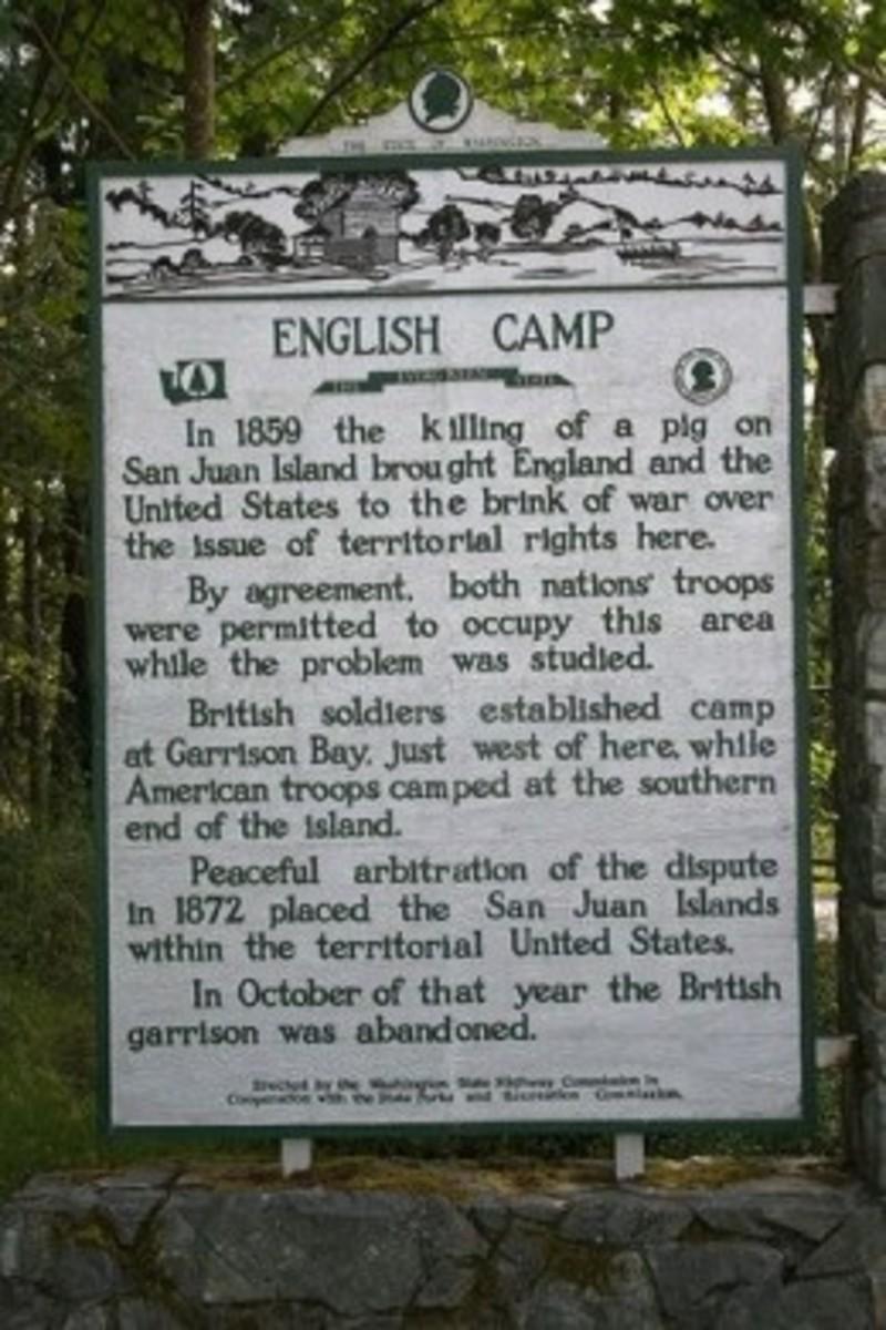 English Camp Sign on San Juan Island