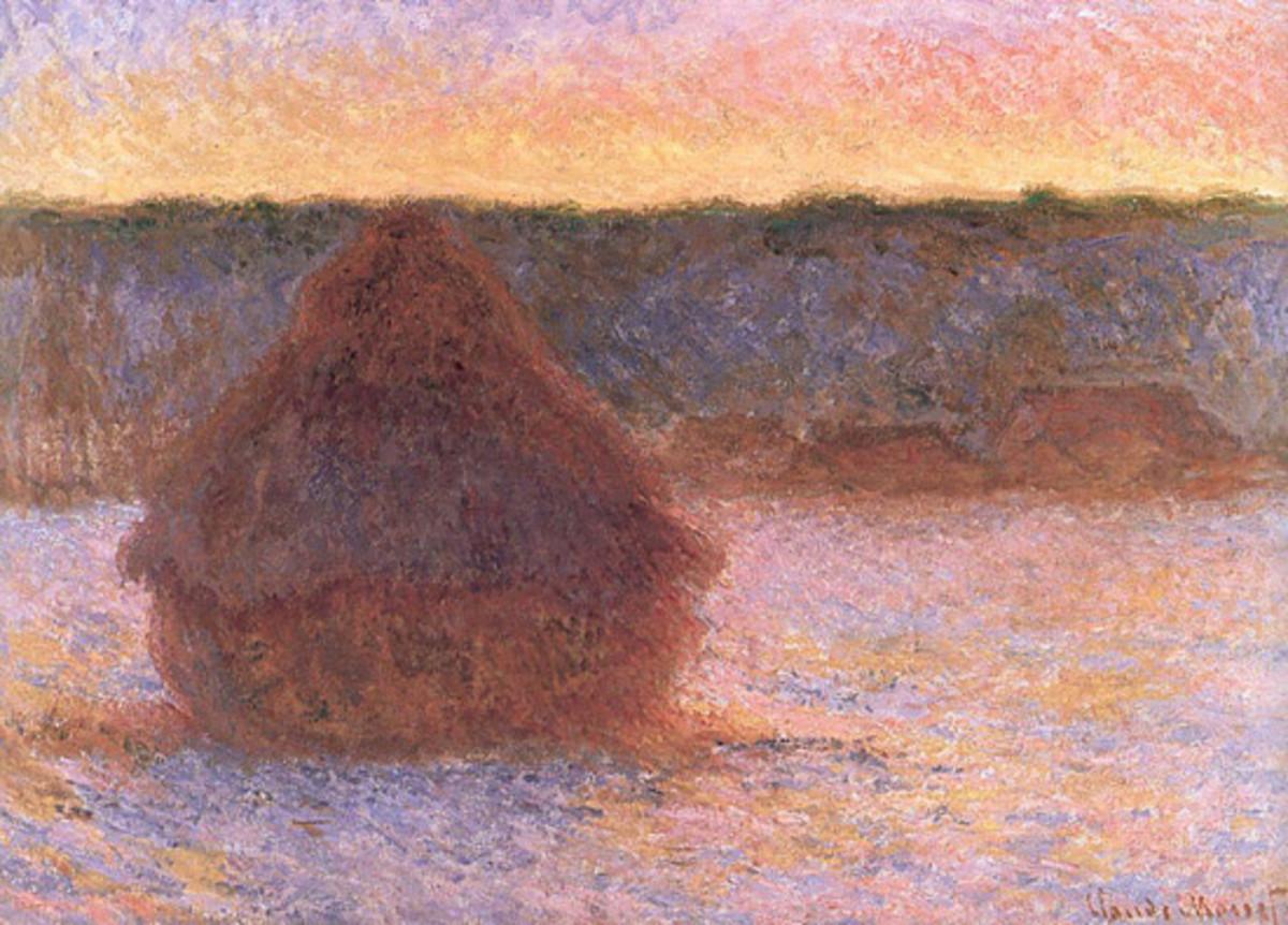 Monet's Series Paintings - Stacks of Wheat