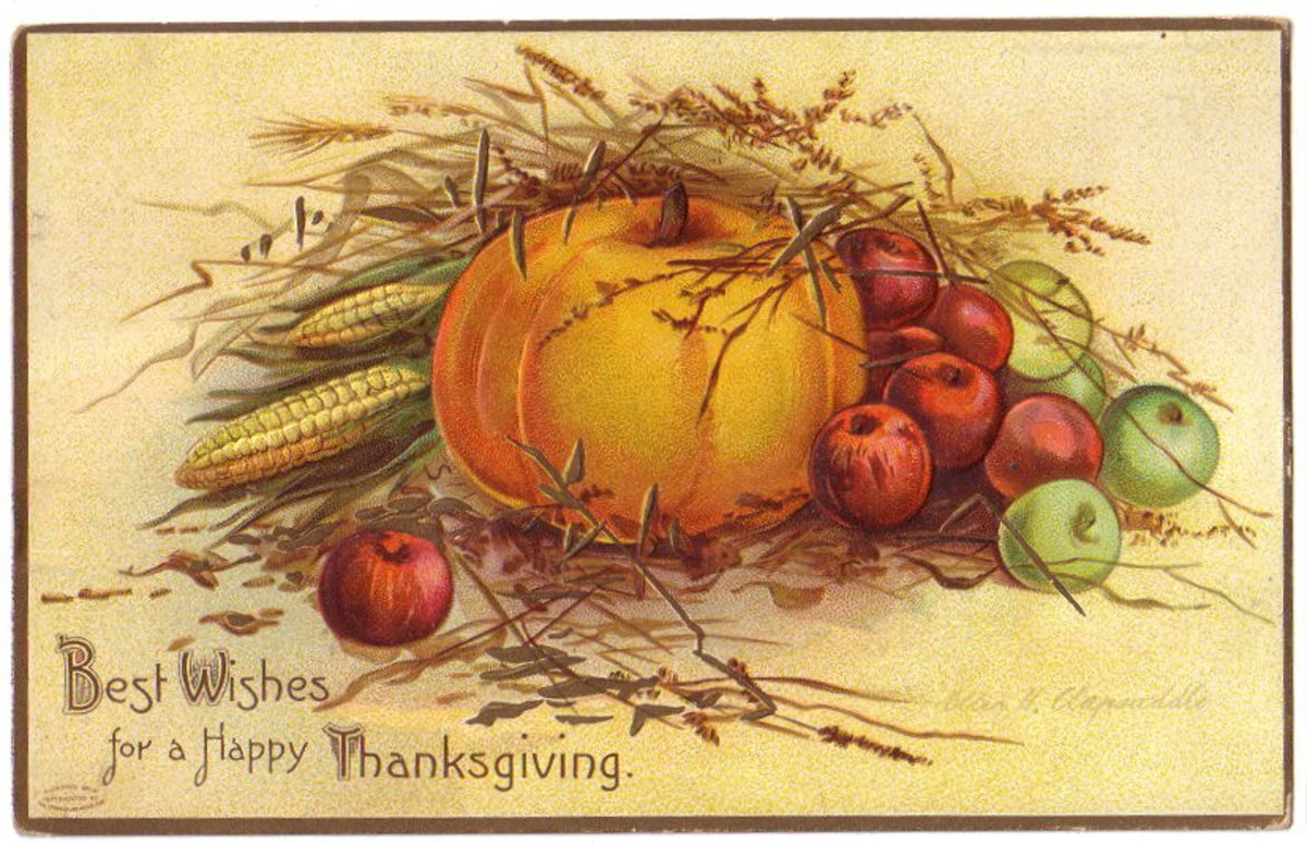 Free vintage Thanksgiving postcards: Harvest time