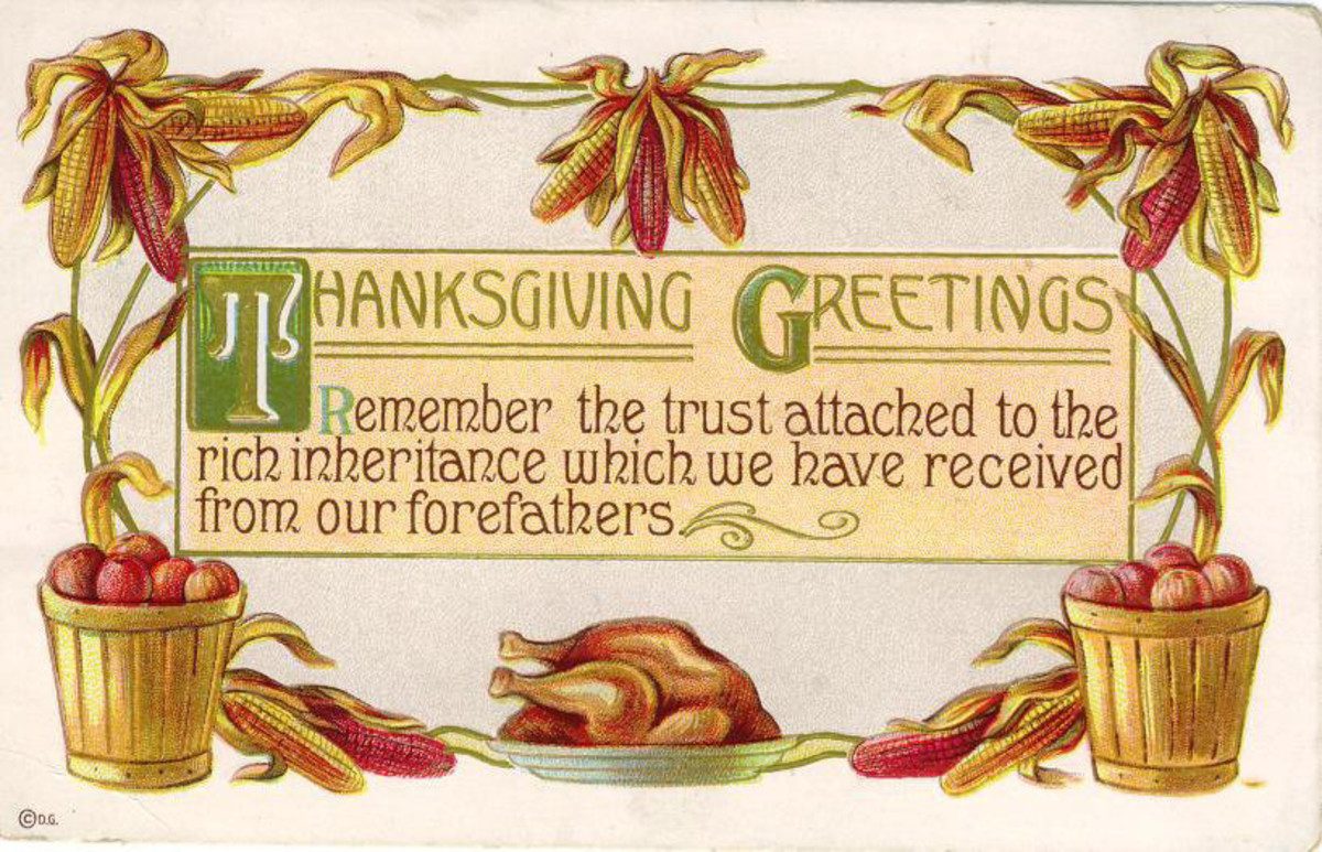 Free vintage Thanksgiving post cards: Harvest Thanksgiving greetings