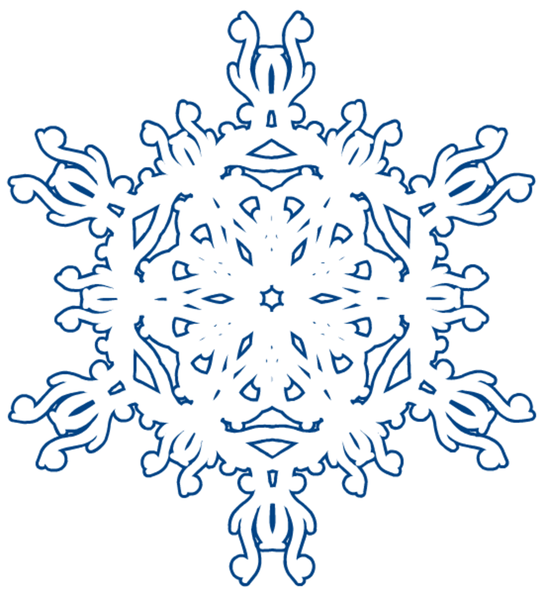 Winter snowflake clipart