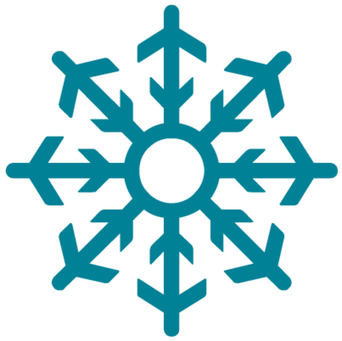 Winter snowflake clip art