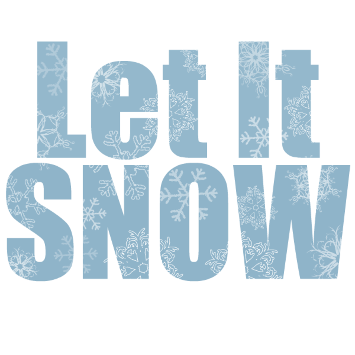 Winter clip art: Let it snow