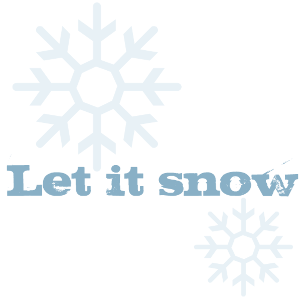 Winter clip art: Let it snow with two snowflakes