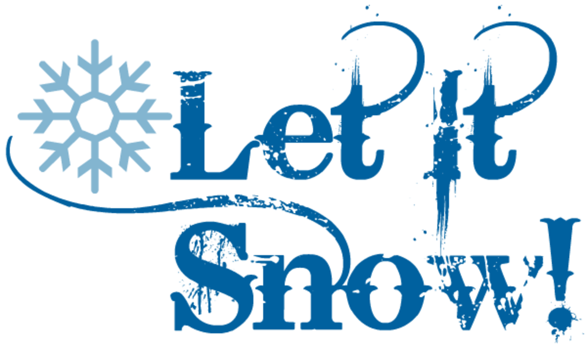 Winter clip art: Let it snow with snowflake