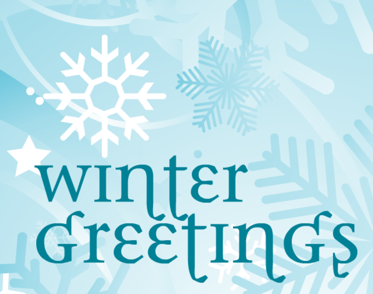 Winter clip art: winter greetings