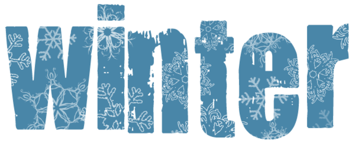 Winter clip art: Icy Winter typography