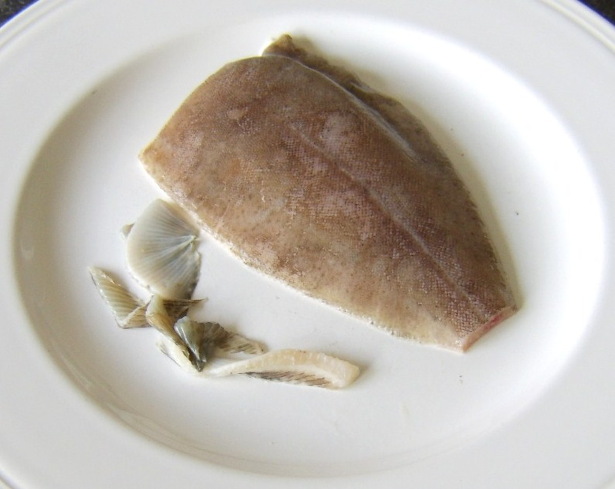 Fins are snipped from lemon sole