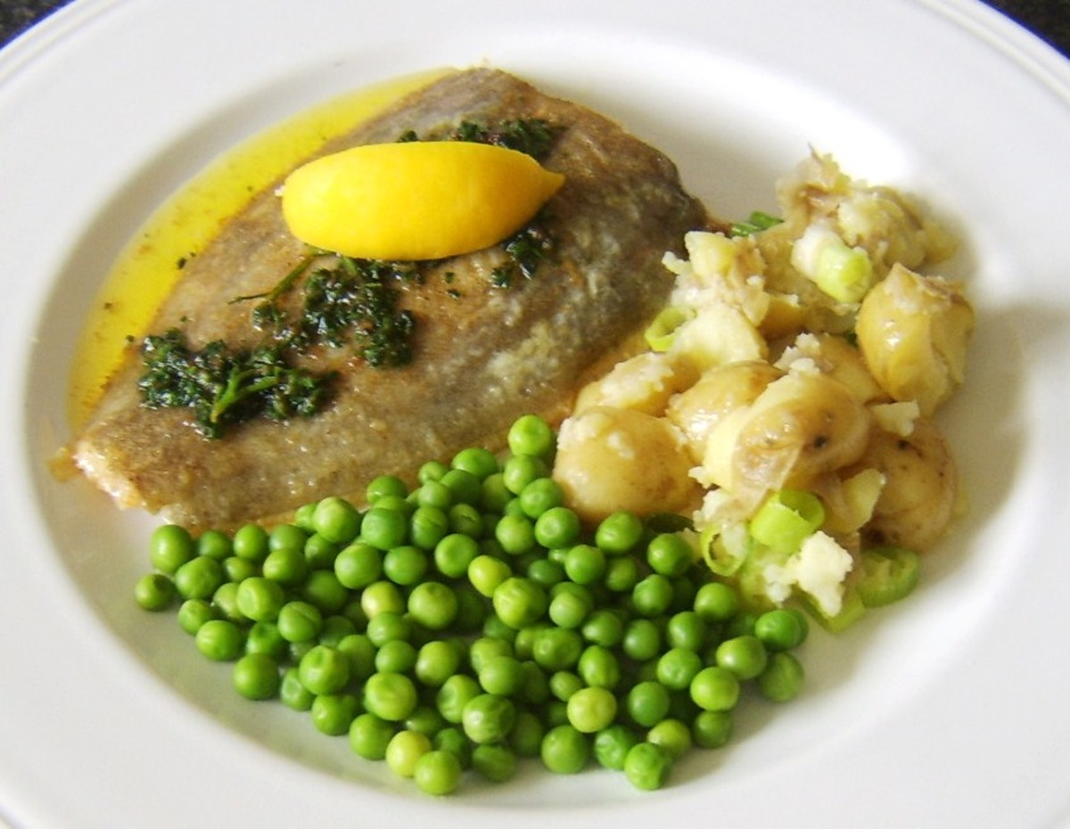 Pan fried whole lemon sole is one of the cooking methods featured on this page