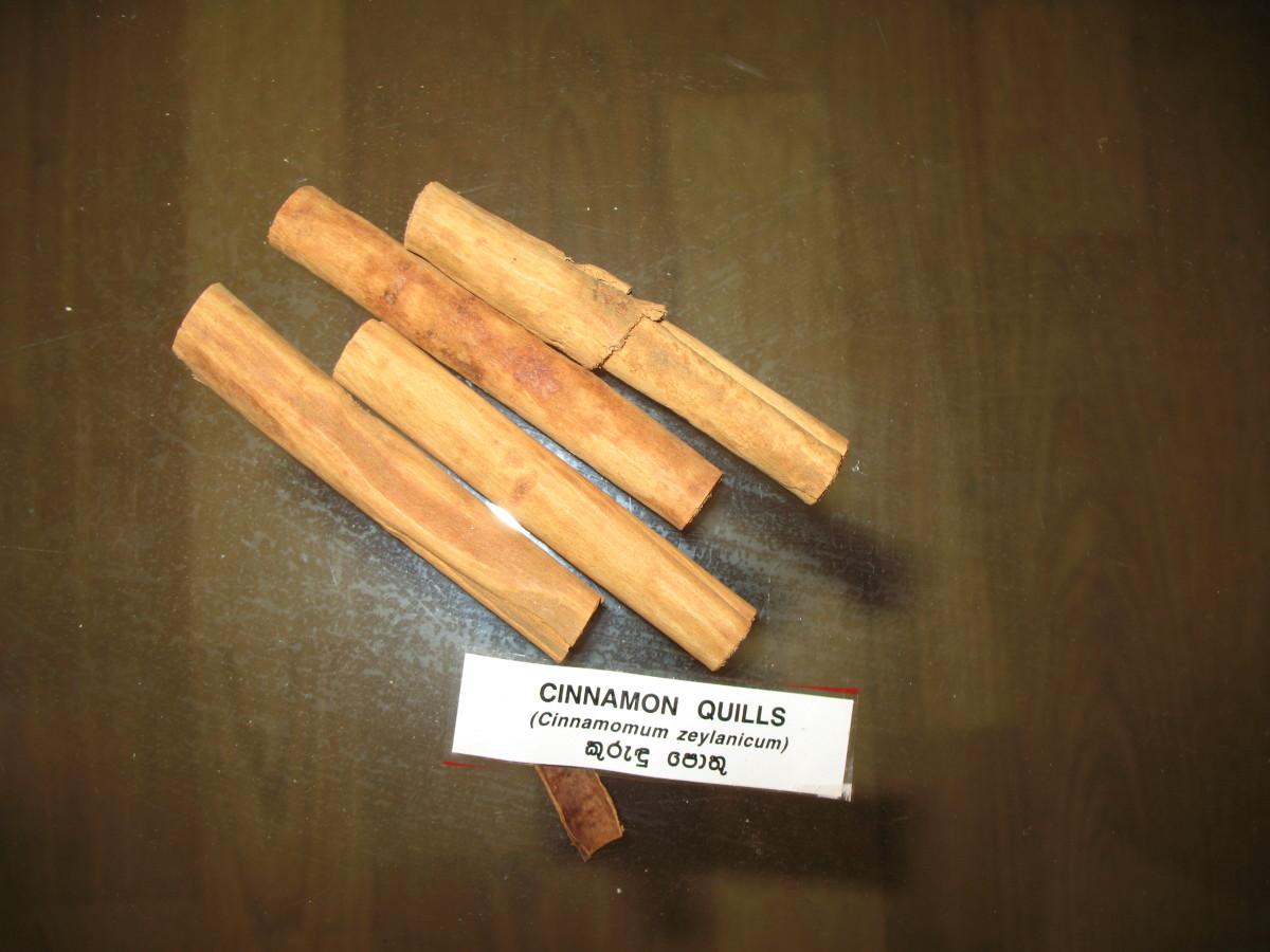 cinnamon quills from Sri Lanka