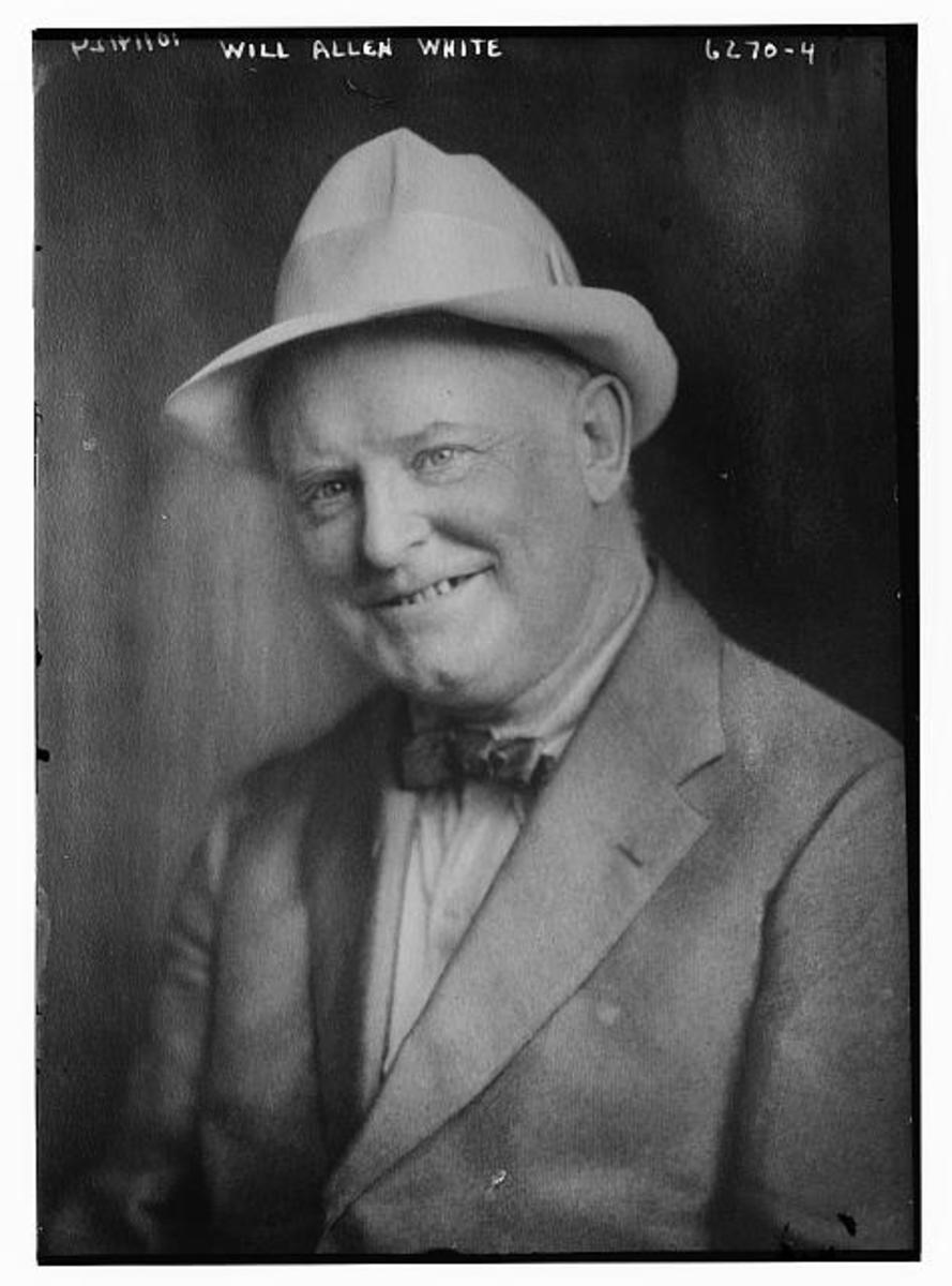 William Allen White (February 10, 1868 – January 31, 1944), renowned American newspaper editor, politician, and author.