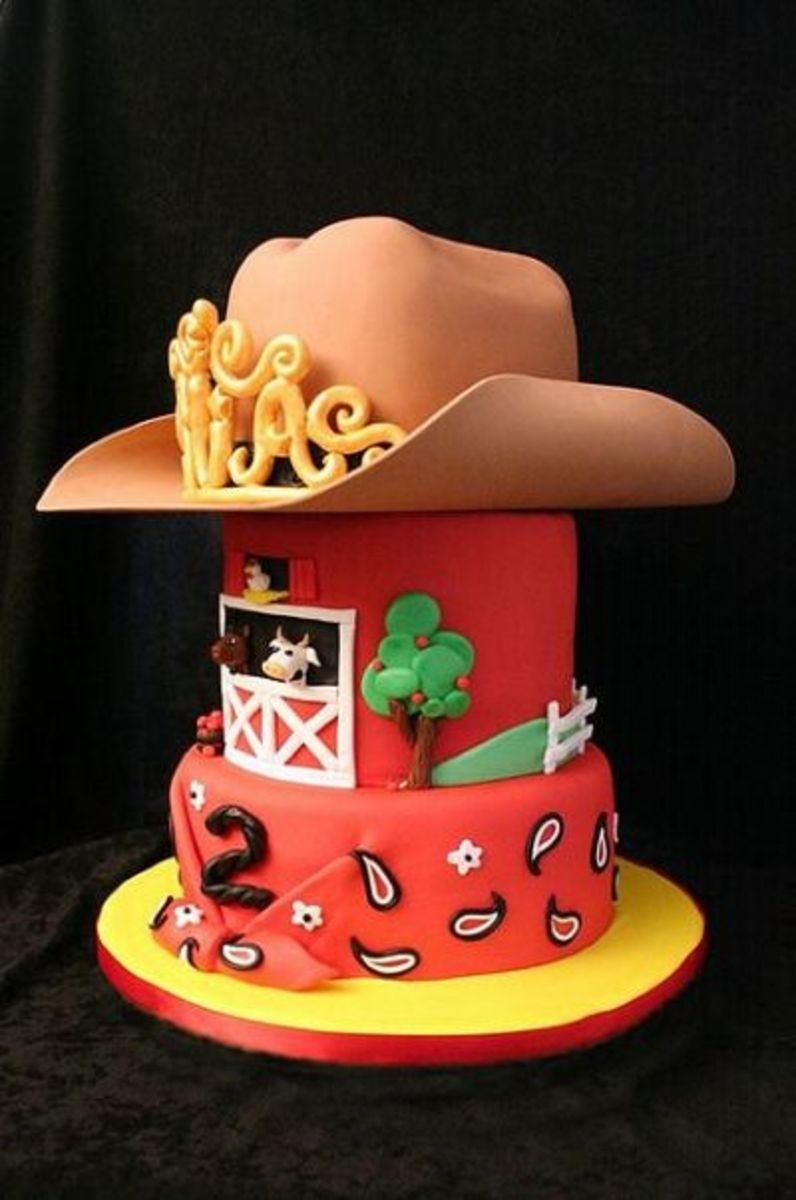 So Cute! Cowgirl (with tiara) or Cowboy Cake
