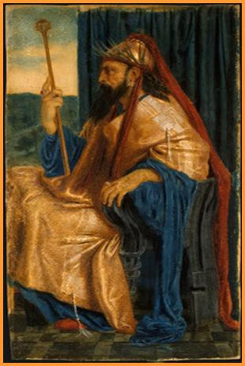 Abraham praying