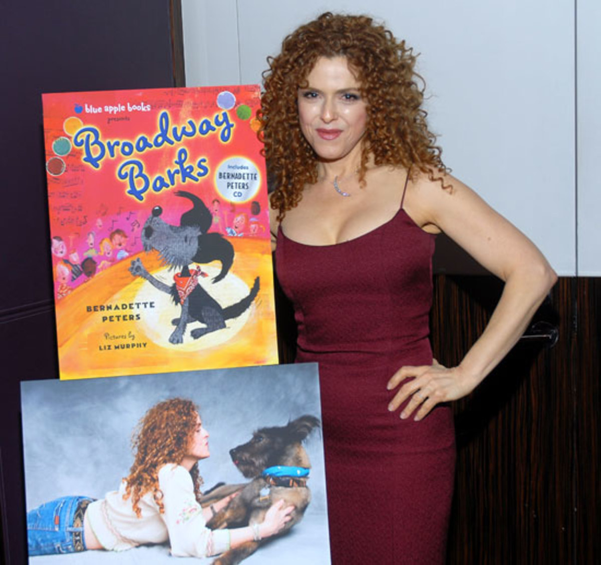 Bernadette Peters promoting her book