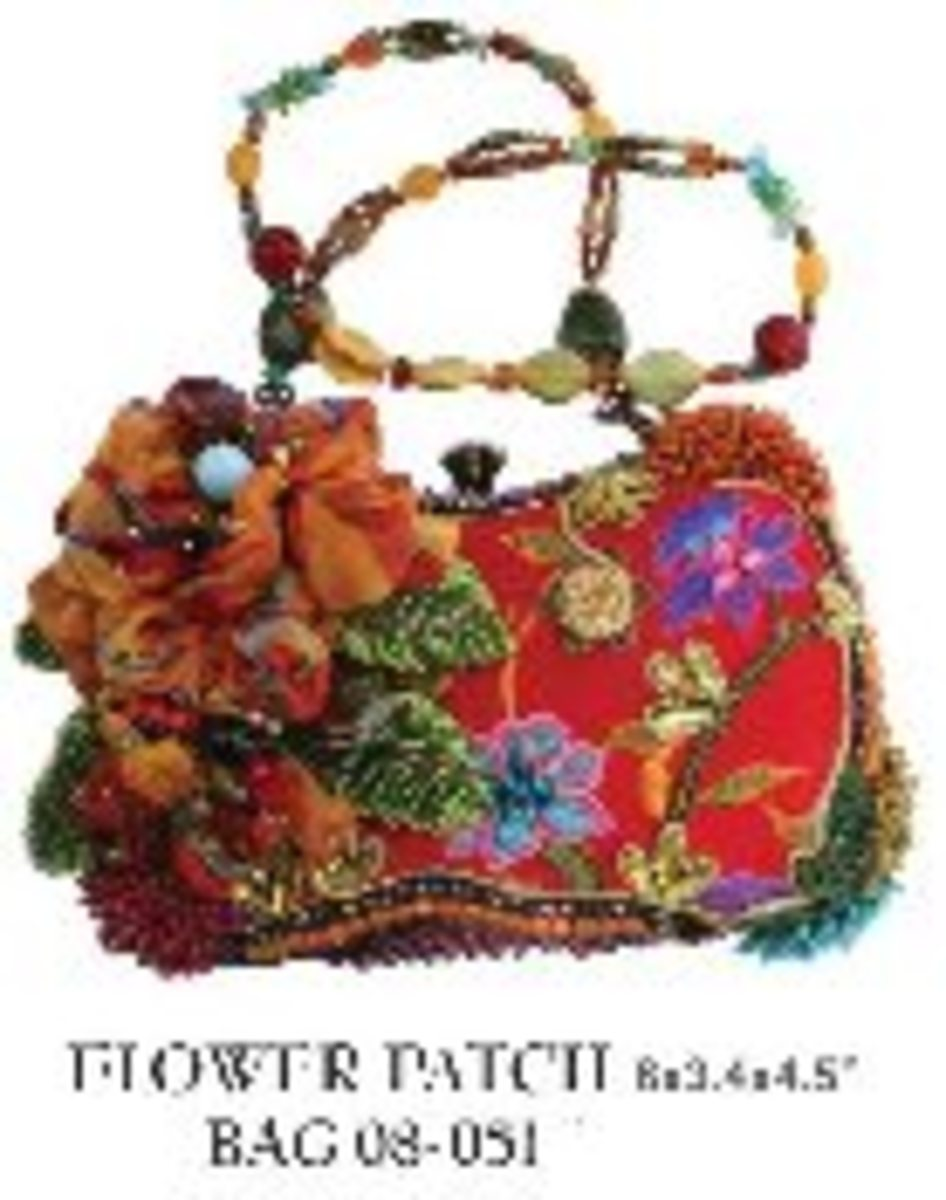 Mary Frances Bags - Flower Patch - $238