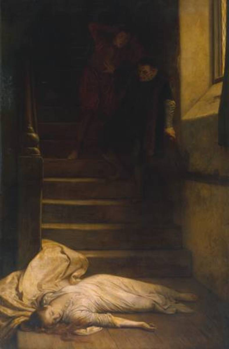 19th century depiction of the death of Amy Robsart
