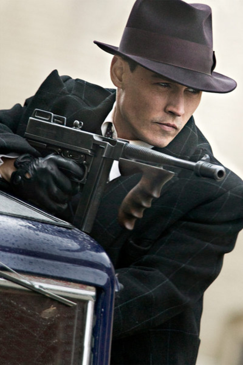 Depp playing John Dillinger in Public Enemy.