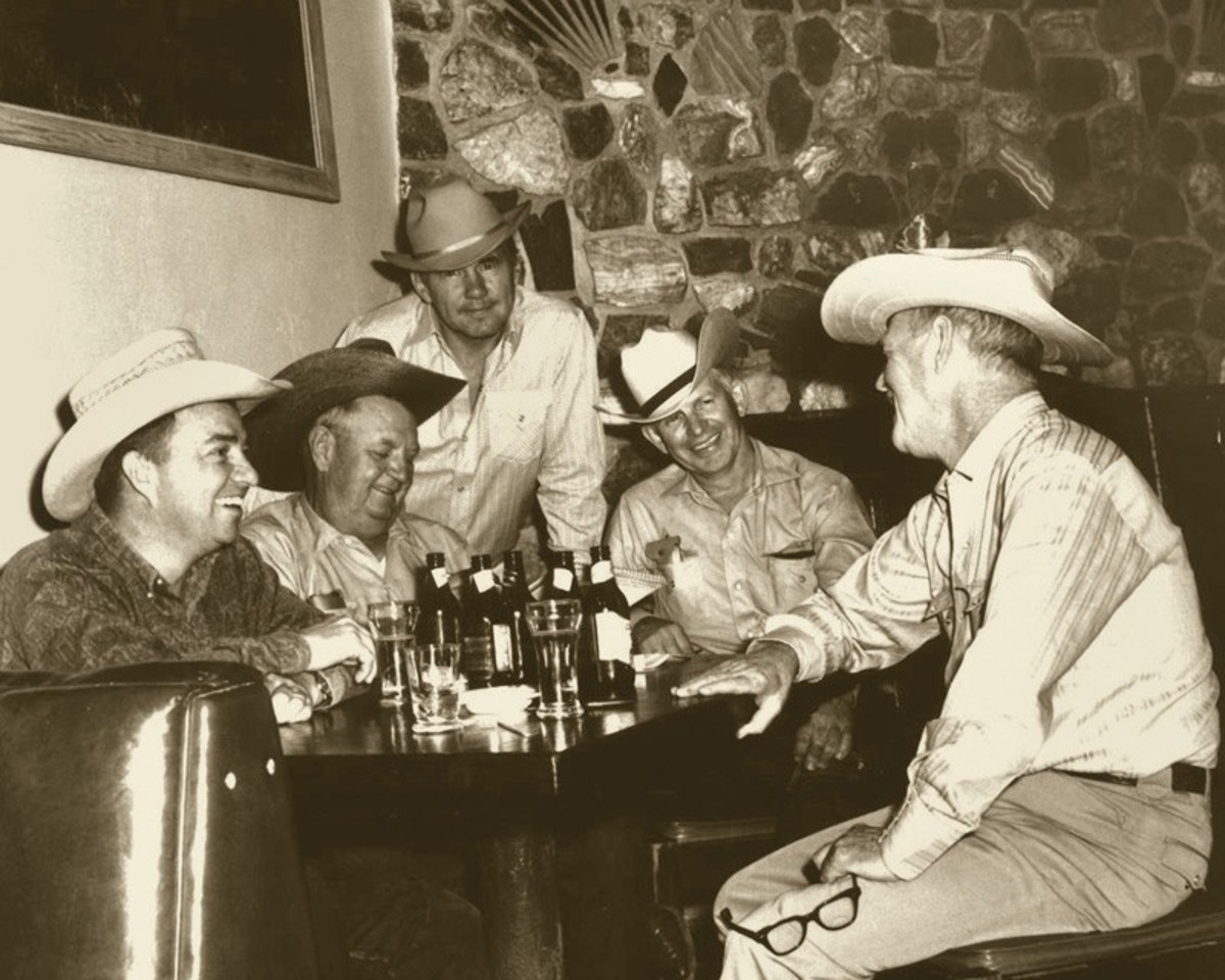 Joe Beeler, Charlie Dye and others present at the founers meeting of the Cowboy Artists of America.