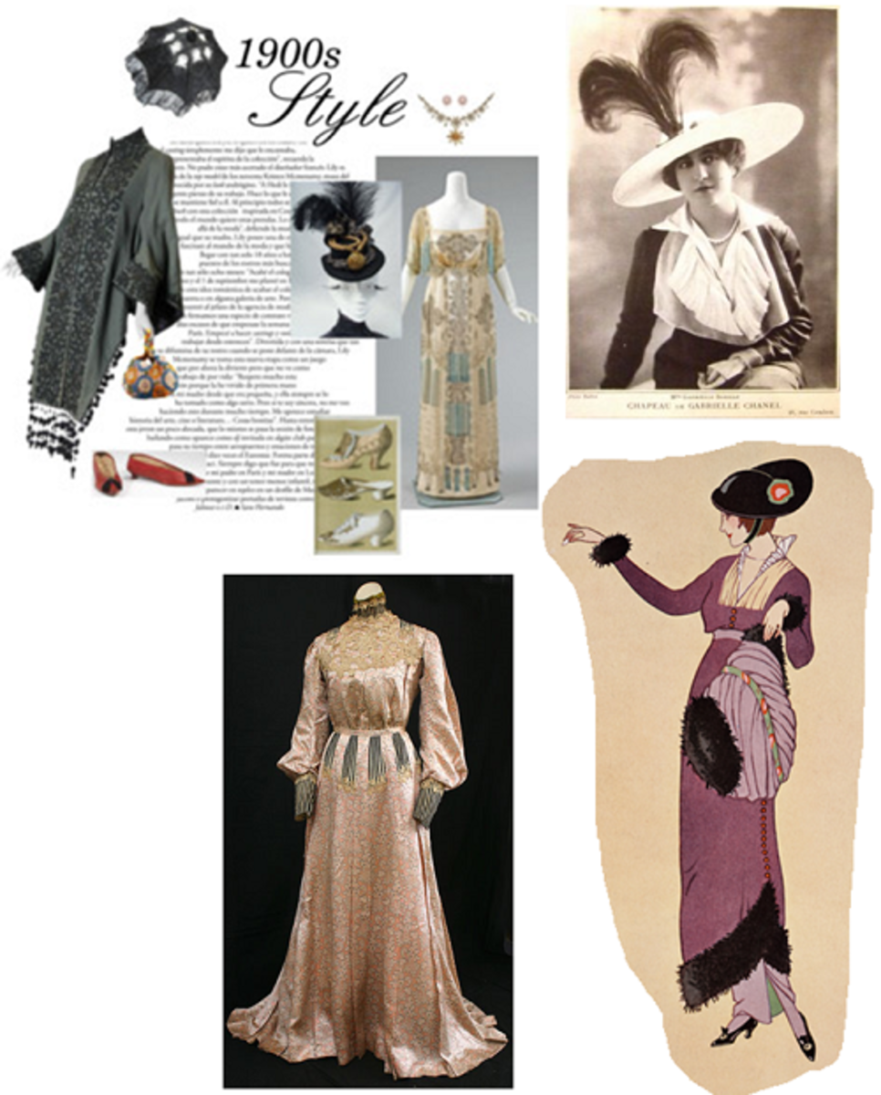 1900 to 1930s Women's Fashion - Haute Couture
