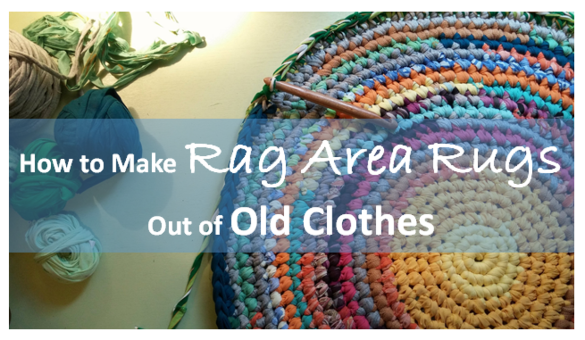How to Make Rag Area Rugs From Old Clothes