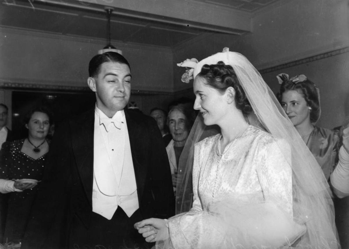 A 1940 wedding veil