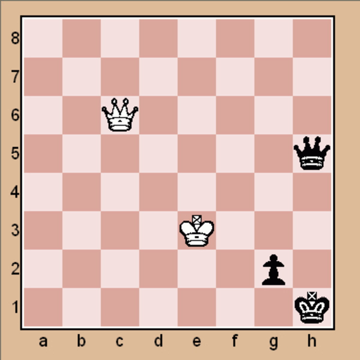 End game chess puzzle (Click to enlarge)